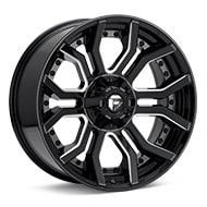 Fuel Off-Road Rage 6 Gloss Black w/Milled Accent Wheels