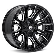 Fuel Off-Road Rage 8 Gloss Black w/Milled Accent Wheels