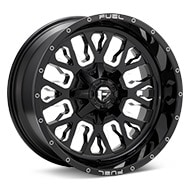 Fuel Off-Road Stroke Gloss Black w/Milled Accent Wheels