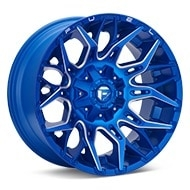 Fuel Off-Road Twitch Anodized Blue w/Milled Accent Wheels