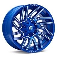 Fuel Off-Road Typhoon Anodized Blue w/Milled Accent Wheels