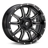 Fuel Off-Road Vandal Gloss Black w/Milled Accent Wheels