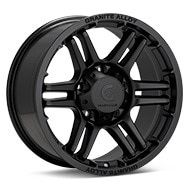 Granite Alloy GA640 Black Painted Wheels