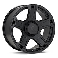 Granite Alloy GA641 Black Painted Wheels