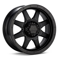 Granite Alloy GA643 Black Painted Wheels