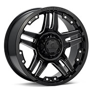 Granite Alloy GA644 Black w/Milled Accent Wheels