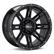 Helo HE900 Gloss Black Painted Wheels