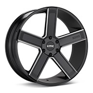 KMC KM702 Black w/Milled Accent Wheels