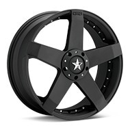 KMC KM775 Rockstar Car Black Painted Wheels