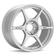 Kosei K1 Racing Silver Painted Wheels