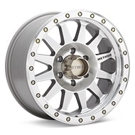 Method MR304 Double Standard Silver Machined w/Clearcoat Wheels