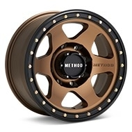 Method MR310 Con6 8-Lug Bronze w/Black Lip Wheels