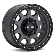 Method MR311 Vex 8-Lug Titanium w/Black Lip Wheels