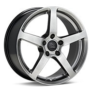 Monte TITANO MT1 Piana Bright Satin Sil Paint Wheels