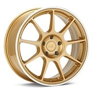 MOTEGI RACING MR138 Gold w/Machined Lip Wheels