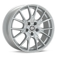 MSW Type 25 Matte Silver Painted Wheels