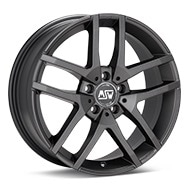 MSW Type 28 Matte Dark Grey Wheels