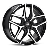 MSW Type 40 Machined w/Black Accent Wheels