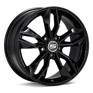 MSW Type 71 Gloss Black Painted Wheels