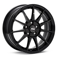 MSW Type 85 Gloss Black Painted Wheels