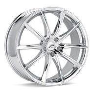 Platinum Flux Chrome Plated Wheels