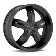 Platinum Widow Flat Black Painted Wheels