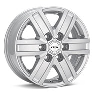 Rial Transporter 6-Spoke Bright Silver Paint Wheels