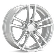 Rial X10 Bright Silver Paint Wheels