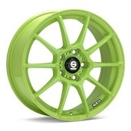 Sparco Assetto Gara Green Painted Wheels