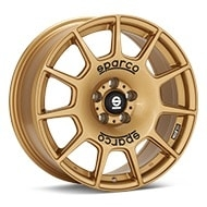 Sparco Terra Rally Gold Painted Wheels