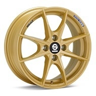Sparco Trofeo 4 Gold Painted Wheels