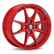 Sparco Trofeo 4 Red Painted Wheels