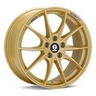 Sparco Trofeo 5 Gold Painted Wheels