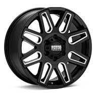 Sport Terrain Dune 6-lug Black w/Milled Accent Wheels