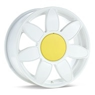 Sport Edition Daisy White Painted Wheels