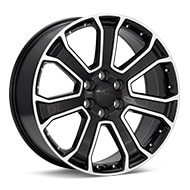 Sport Muscle SM49 Machined w/Black Accent Wheels