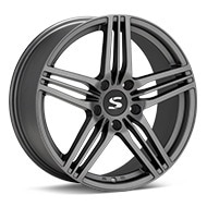 Starke Design FC Matte Graphite Silver Wheels