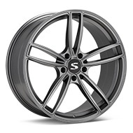 Starke Design MC Matte Graphite Silver Wheels