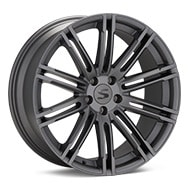Starke Design TC Matte Graphite Silver Wheels