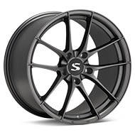 Starke Design BC Matte Graphite Silver Wheels