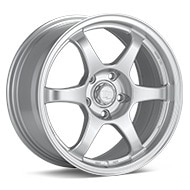 TRMotorsport C2 Bright Silver Paint Wheels