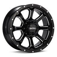 Ultra Nemesis 8-Lug Black w/Milled Accent Wheels