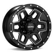 Ultra Warlock 8-Lug Black w/Milled Accent Wheels