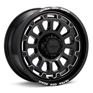 Ultra Motorsports Xtreme X111 Black w/Milled Accent Wheels