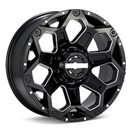 WORX 812 Clash 8-Lug Black w/Milled Accent Wheels