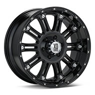 KMC XD Series XD795 Hoss Black Painted Wheels
