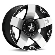 KMC XD Series XD775 Rockstar Machined w/Black Accent Wheels