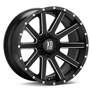 KMC XD Series XD818 Heist Black w/Milled Accent Wheels