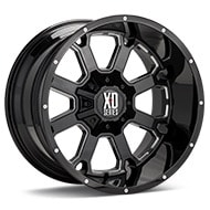 KMC XD Series XD825 Buck 25 Black w/Milled Accent Wheels