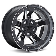 KMC XD Series XD827 Rockstar III Machined w/Satin Black Accent Wheels
